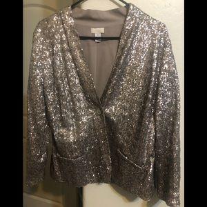Chico's gold metallic jacket